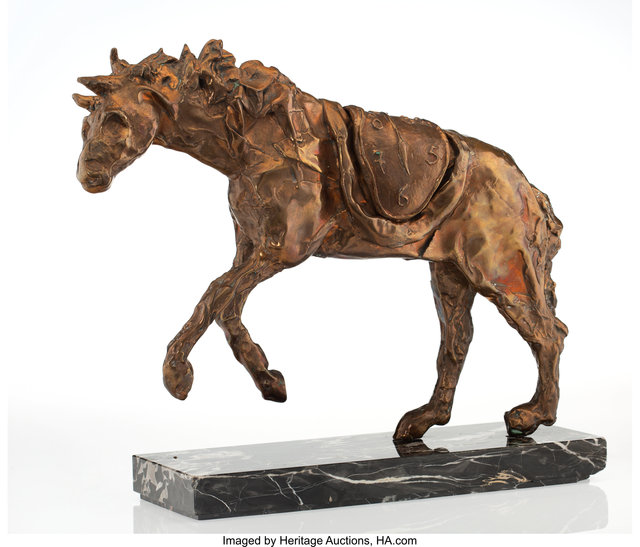 Salvador Dalí, 'Horse saddled with time', 1981, Sculpture, Bronze, Heritage Auctions