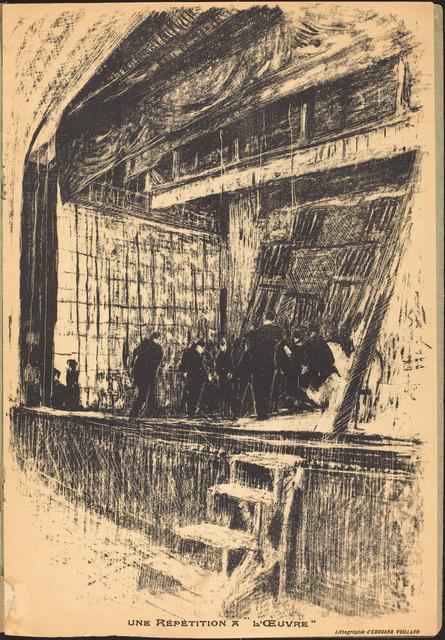 Édouard Vuillard, 'Une répétition à L'Oeuvre, Program for L'Oasis', 1903, National Gallery of Art, Washington, D.C.
