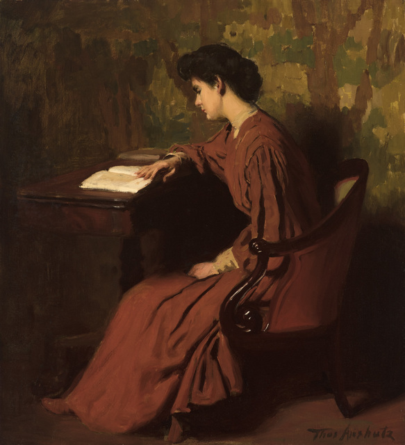 , 'Woman Reading at a Desk,' c. 1910, Godel & Co.