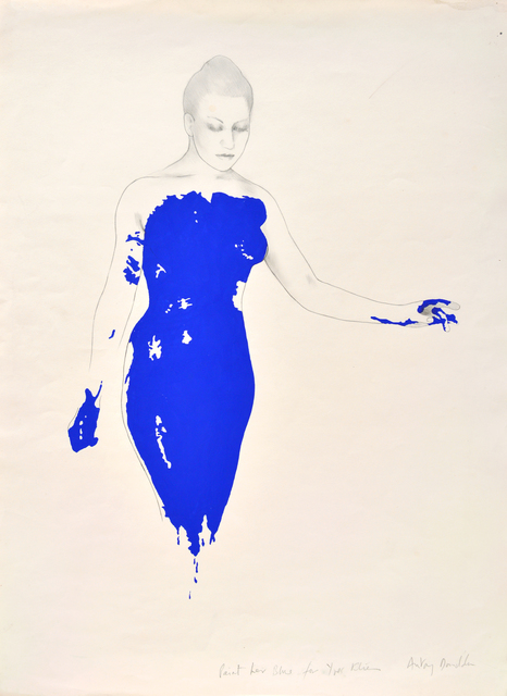 , 'Paint her blue for Yves Klein,' 1983, The Mayor Gallery