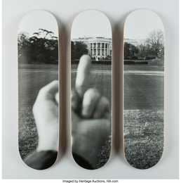 The White House, from Fuck Off series, triptych