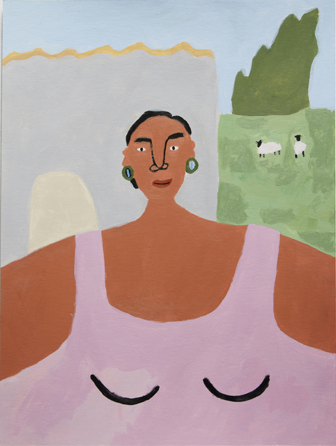 , 'Woman with Two Sheep,' 2017, Ochi Projects