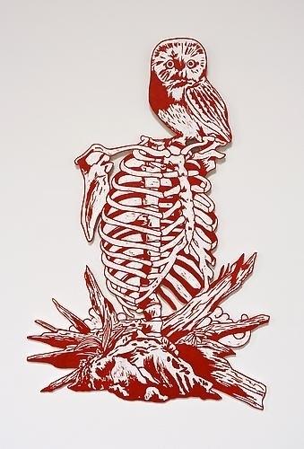 , 'Breastbone and Owl,' 2009, Mark Moore Fine Art