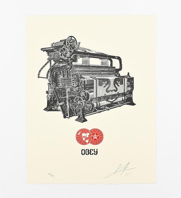 Shepard Fairey, 'Obey Loom Letterpress', 2015, AYNAC Gallery