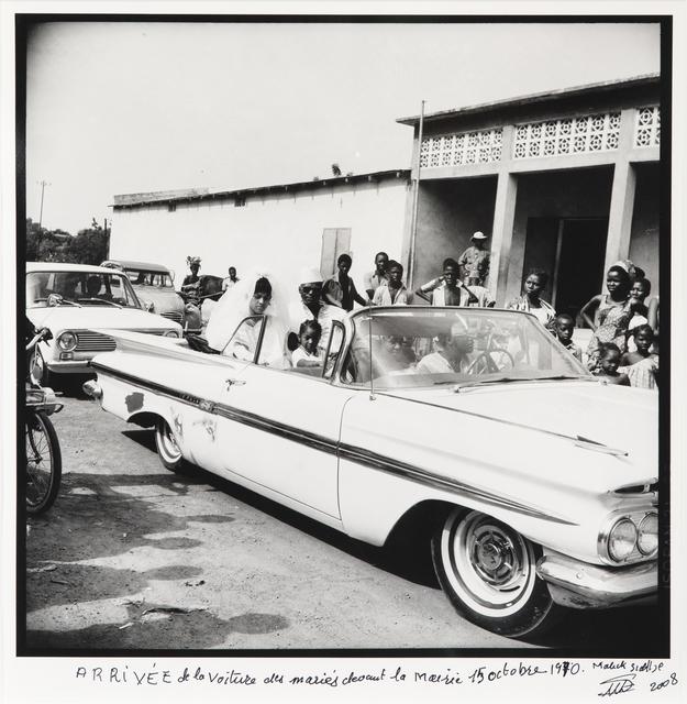 , 'Arrivée de la voiture des mariés  devant la mairie 15 Octobre 1970,' 1970, Jack Shainman Gallery