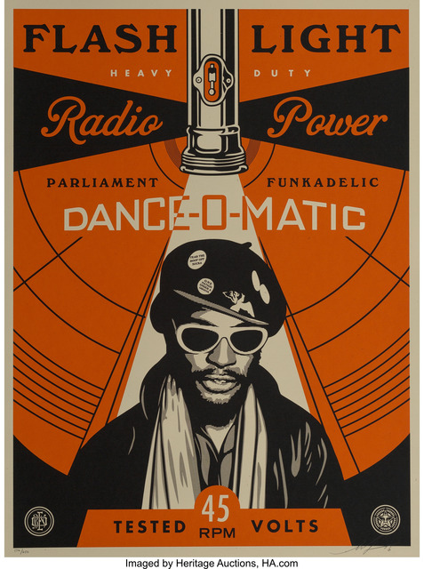 Shepard Fairey (OBEY), 'George Clinton Flash Light', 2016, Heritage Auctions