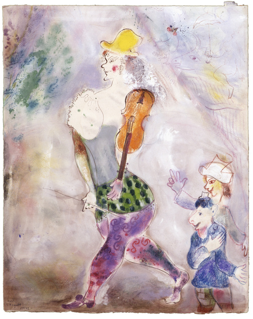 Marc Chagall, 'A Clown Playing the Violin (Clown jouant au violon),' 1941–42, Dallas Museum of Art