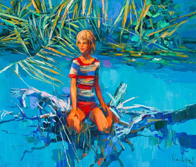 Nicola Simbari, 'Girl in Water', 20th/21st Century, Painting, Oil on linen, Larsen Gallery