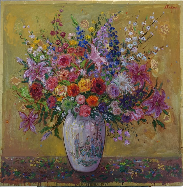 , 'Bouquet on Golden Ground, Chinese Ladies,' 2017, Galerie d'Orsay