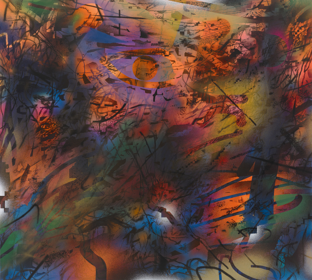 Julie Mehretu, 'Dissident Score', 2019-2021, Painting, Ink and acrylic on canvas, Julie Mehretu for Art for Justice Fund Benefit Auction