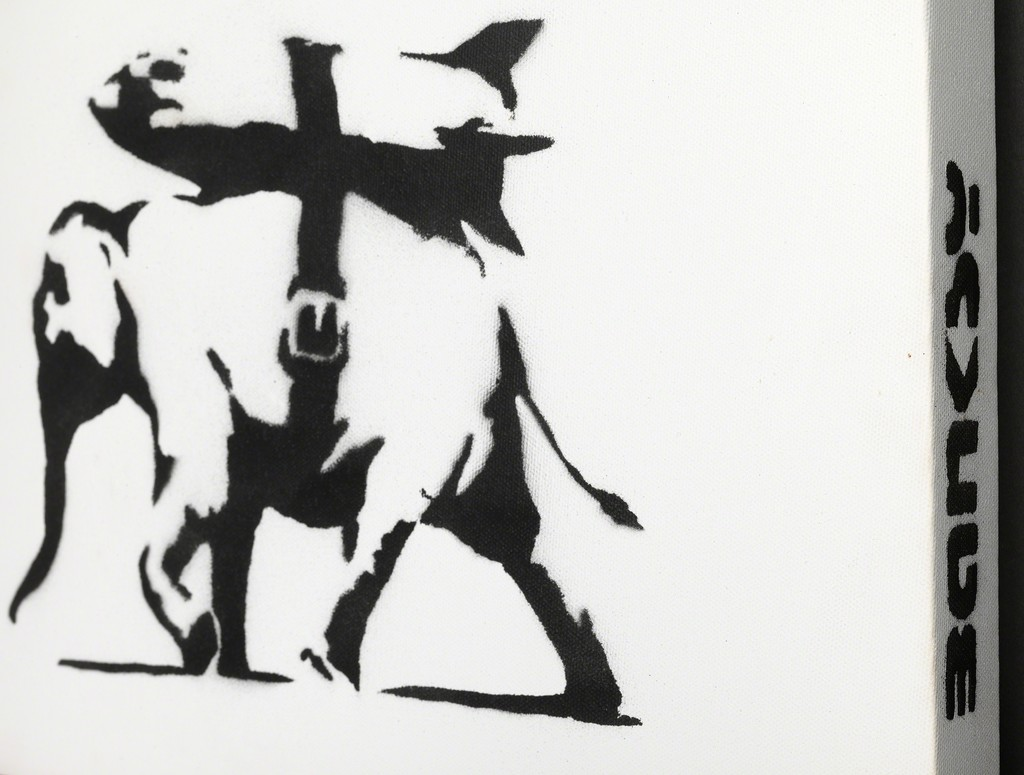 The 'War, Capitalism & Liberty' museum exhibition features original Banksy artworks from international private collections including oil paintings on canvas, sculptures, limited edition prints and rare collectors objects.