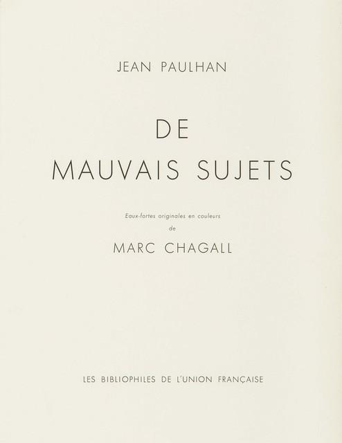 , 'De Mauvais Sujets (1),' 1958, Wada Garou Tokyo