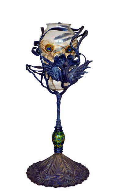 , 'Vase «Plume de paon» (Peacock feather vase),' c. 1914, Musée d'Orsay