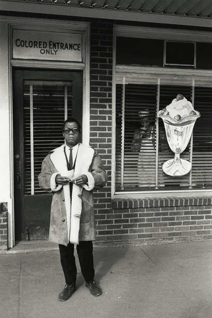 , 'James Baldwin, Colored Entrance, New Orleans,' 1963, Howard Greenberg Gallery