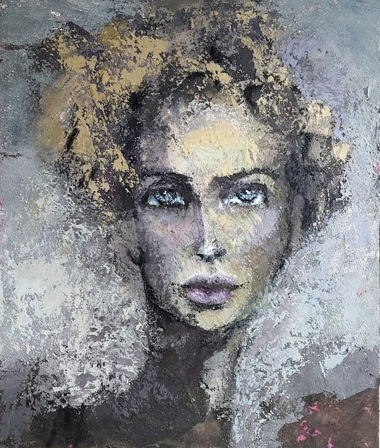 Eva Dvorak, 'Lady of life   ', 2019, Painting, Concrete and and acrylic pigment on canvas, the gallery STEINER