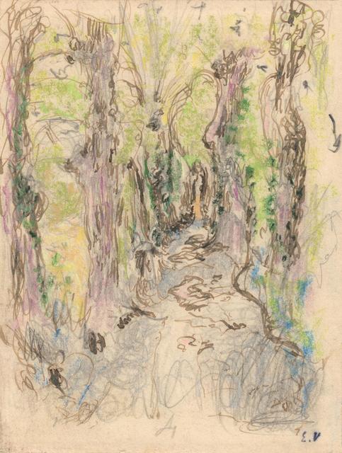 , 'Etude pour L'Allée en sous-bois, Amfréville,' 1905-1907, Jill Newhouse Gallery