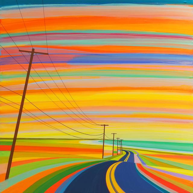 , 'Sunset on Old Montauk Highway,' 2018, Roman Fine Art