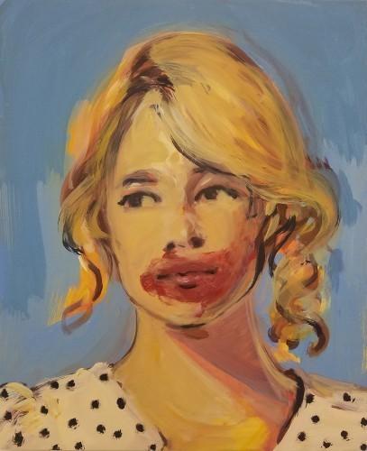 , 'Makeup (lipstick and dots),' 2017, Bugada & Cargnel