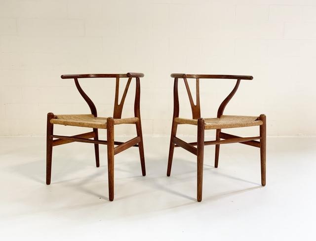 Hans Jørgensen Wegner, 'Model CH24 Wishbone Chairs, pair', 1950s, Forsyth