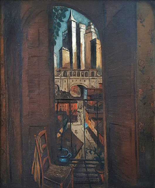 Glenn O. Coleman, 'From a Balcony   ( Skyscraper City: 1928)', ca. 1927, Robert Funk Fine Art
