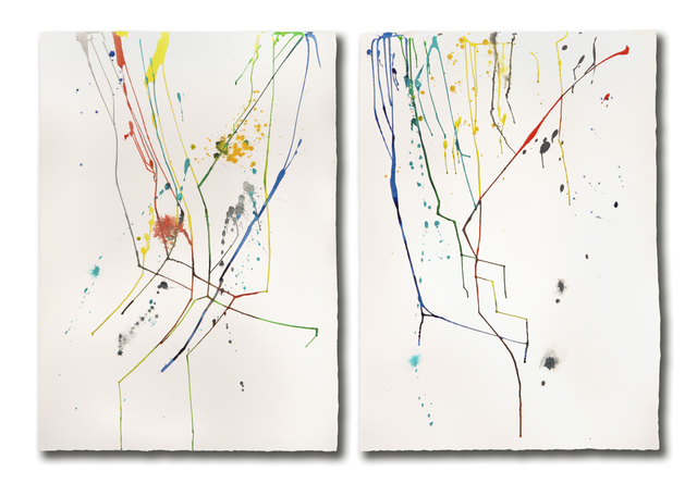 Ginny Sykes, 'Tracers #1 (Diptych)', Drawing, Collage or other Work on Paper, Acrylic on Paper, gallery 1871