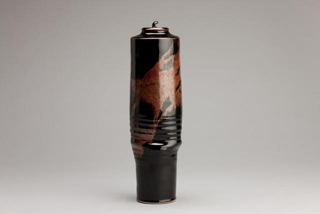 Brother Thomas Bezanson, 'Tall vase, honan tenmoku glaze', n/a, Pucker Gallery