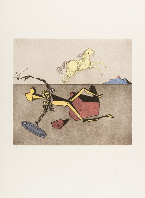 Salvador Dalí, 'Aspiration (Field 80-1H)', 1980, Print, Etching with aquatint printed in colours, Forum Auctions