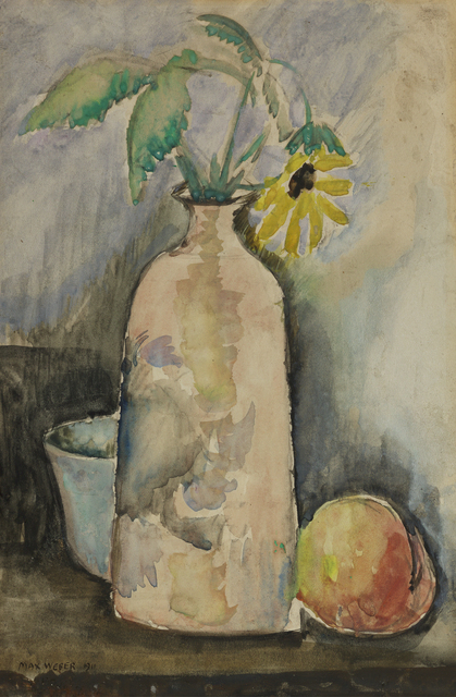, 'Still Life with Daisy, Bottle, and Peach,' 1911, Debra Force Fine Art