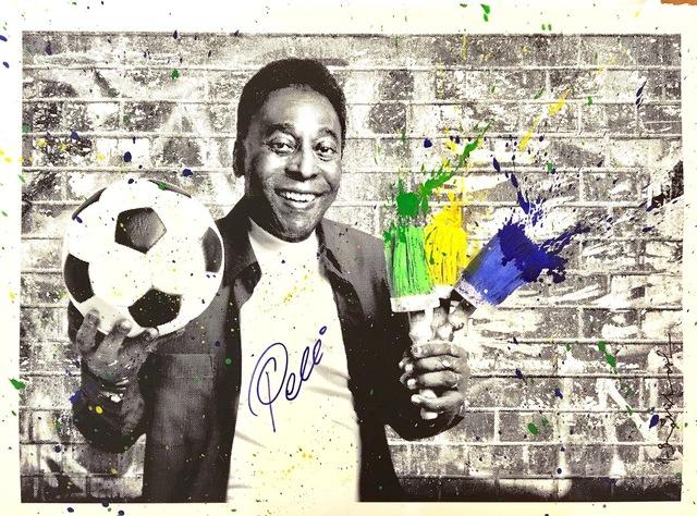 Mr. Brainwash, 'The King Pelé - Portrait', 2016, Aurifer AG