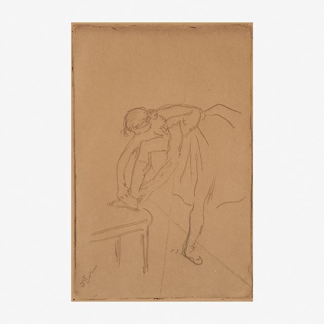 Edgar Degas, 'Danseuse Mettant son Chausson', ca 1892, Rago