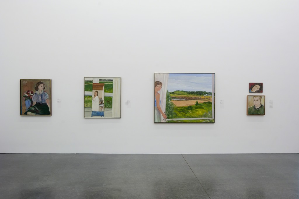 "Installation view of ""Jane Freilicher and Jane Wilson"" See and Unseen"" on view at the Parrish Art Museum, Water Mill, New York through January 18, 2016. Photo: Gary Mamay"