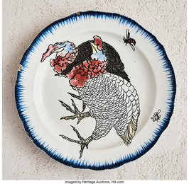 Wild Turkey Plate from the Rousseau Service