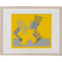 Josef Albers, Limited Edition Portfolio 550/1000 Entitled Formulation: Articulation, Image Folio I, Folder 4