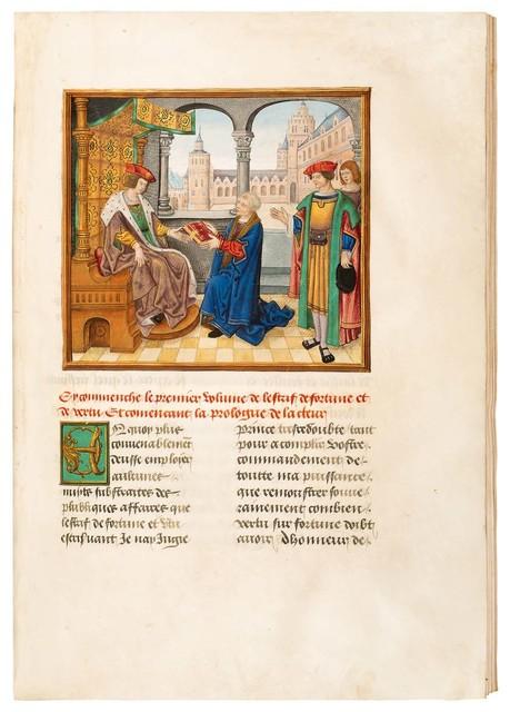 """, 'Martin Le Franc: """"Livre de L'estrif de Fortune et de Vertu"""",' 1482-1519, Dr. Jörn Günther Rare Books"""