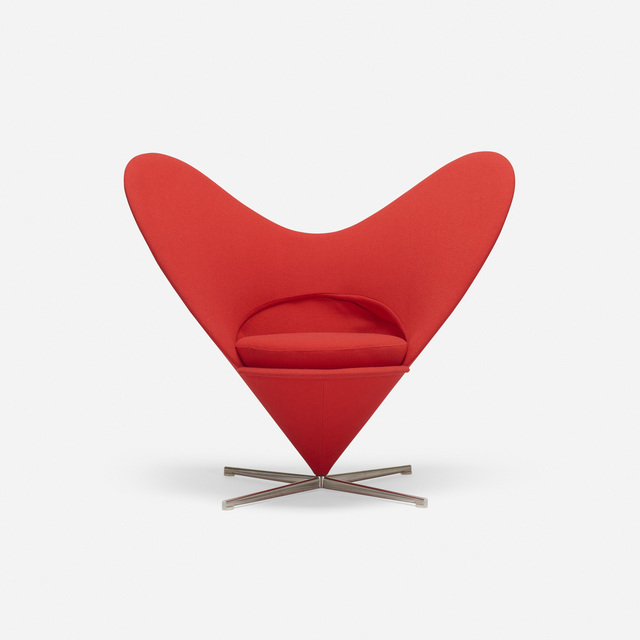 Verner Panton, 'Heart Cone chair', 1959, Wright