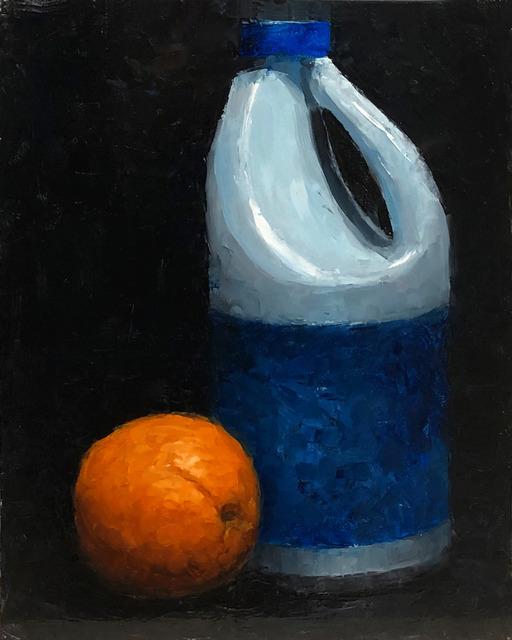 Tom Giesler, 'Health Study 37: orange bleach', 2020, Painting, Oil on panel, McVarish Gallery
