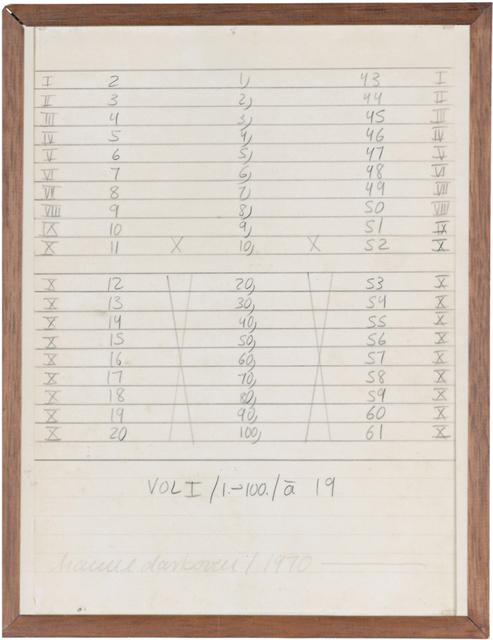 , 'Vol I/1-100./a,' 1970, Galerie Crone