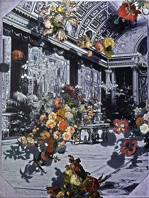 , 'Galerie des Batailles (Falling Flowers Mirror I),' 2014, Olsen Irwin