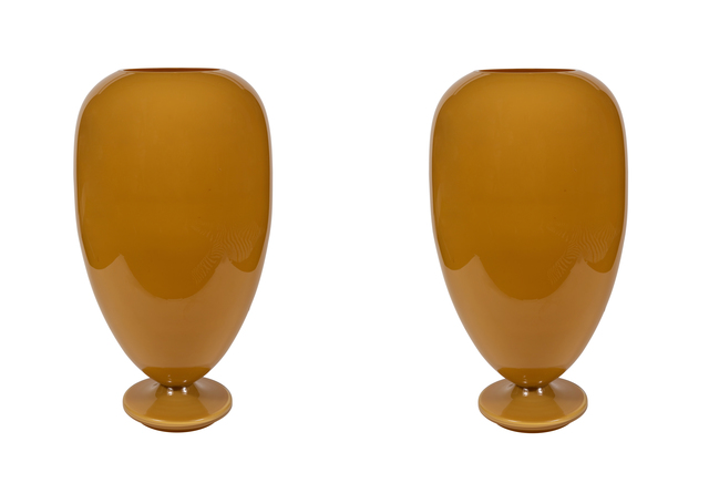 , 'Monumental Pair of Murano Glass Lighted Urn Shape Lamps,' ca. 1970, On Madison