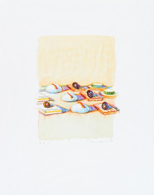 Wayne Thiebaud, 'Appetizers', 1994, Paul Thiebaud Gallery