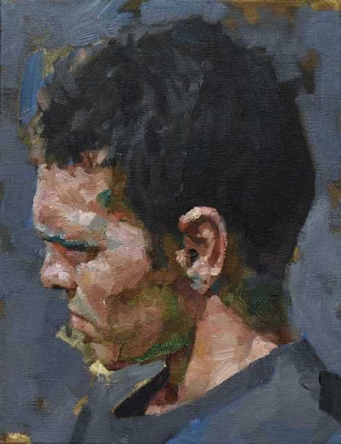 , 'Man In Profile,' 2018, Reuben Colley Fine Art