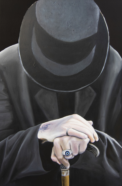 , 'The Man in Black,' 2018, MRG Fine Art