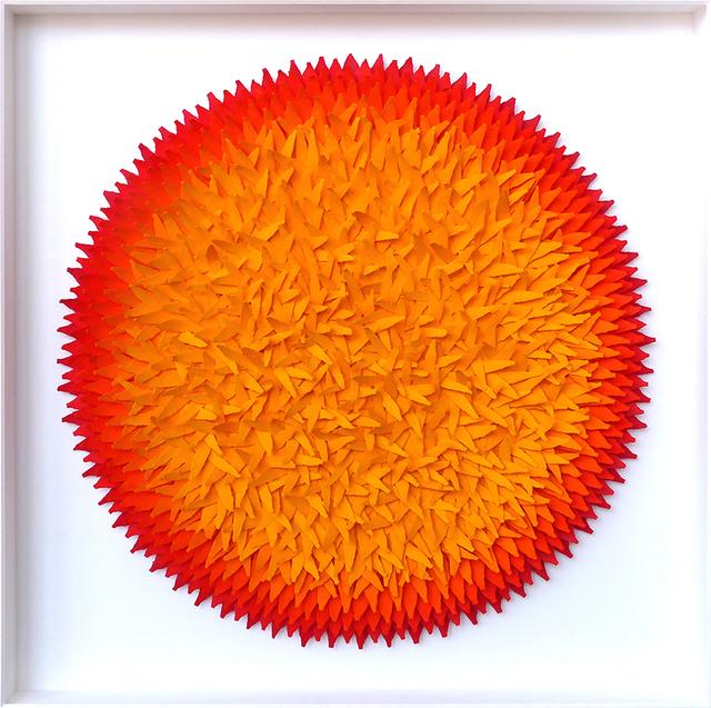 , 'Blätterbild Rot und Gelbtöne,' 2016, Artima