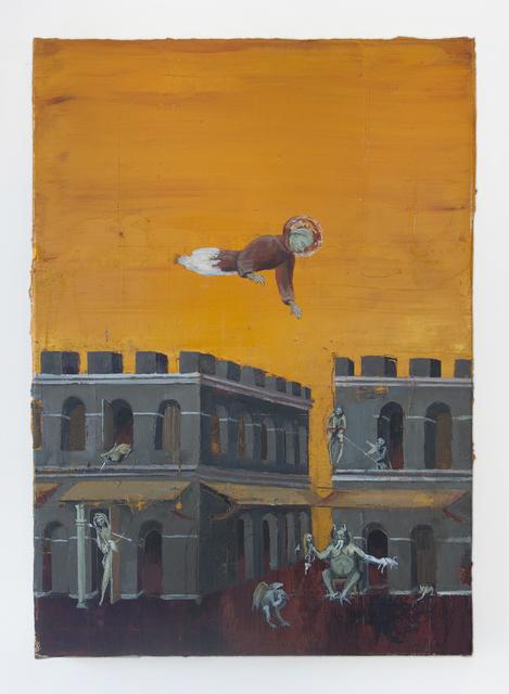 , 'The blessed Ranieri overflying demons under medieval sky,' 2016, Athena Contemporânea