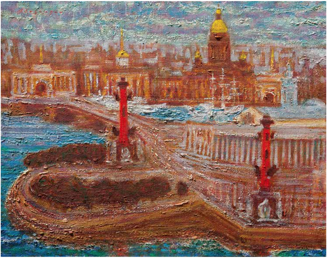 , 'Saint Petersburg Memory  - Original Painting,' 2018, Newport Brushstrokes Fine Art