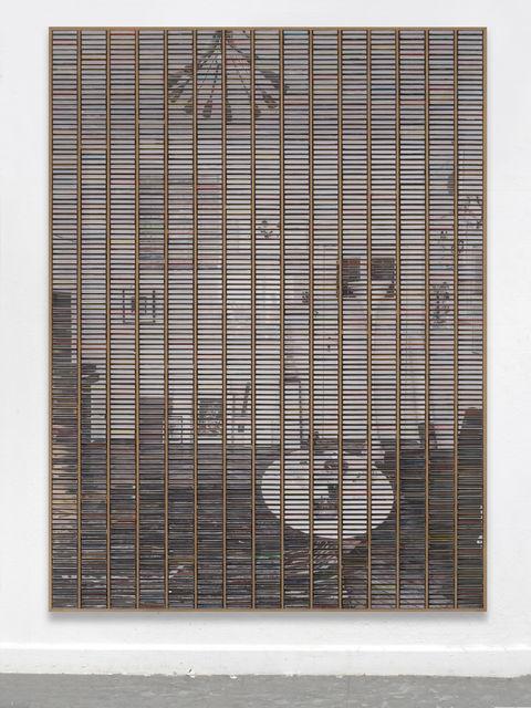 """Gregor Hildebrandt, '""""Wohnzimmer linke Wand""""', 2019, Almine Rech"""