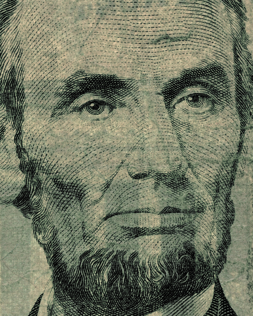 , 'Five US Dollars - Lincoln (from the Face of Money Series),' 2014, Cynthia Corbett Gallery