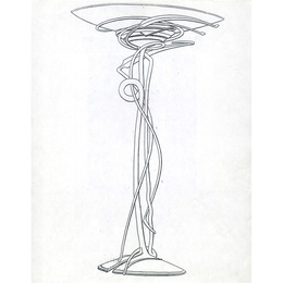 Floor lamp proposal drawing for the Peter Joseph Gallery (New York, NY), Rochester, NY