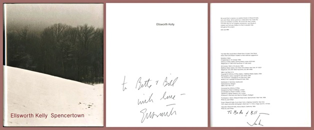 Spencertown, Hand signed and inscribed by Ellsworth Kelly, signed and inscribed by Jack Shear to collectors and MOMA donors