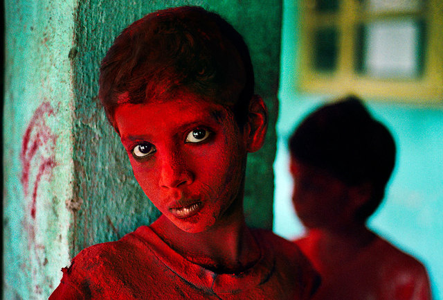 Steve McCurry, 'Boy covered in red powder participates in the festival of Ganesh Chaturthi, Bombay/Mumbai, India', 1996, Sundaram Tagore Gallery